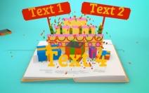 Birthday Pop-Up Book