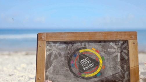 Chalkboard and Drink Logo